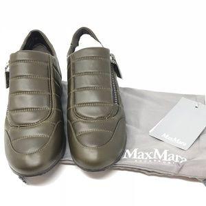 MaxMara Nappa Leather Sneakers - Brand New Sz. 6.5